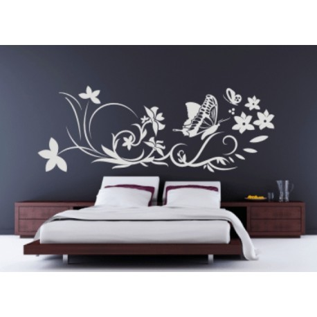 wandtattoo blumen ornament. Black Bedroom Furniture Sets. Home Design Ideas